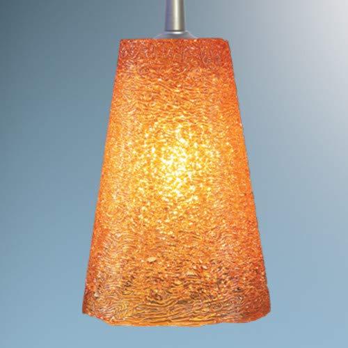- Bling II 1 Light G9 Monopoint Line Voltage Pendant Finish: Matte Chrome, Shade Color: Amber