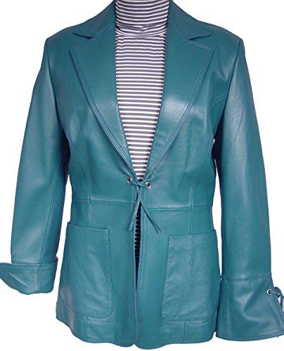 Supple Leather Blazer (4007 Genuine Soft Supple Light Lambskin Real Leather Blazer, Notched Laid Dow...)
