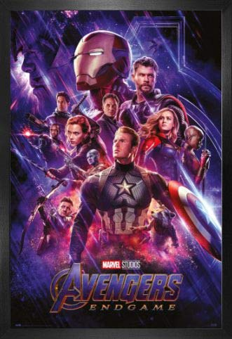 Amazon.com: 1art1 The Avengers Poster and Frame (Plastic ...