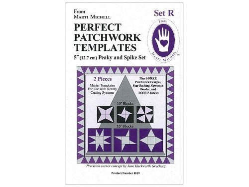 Marti Michell 8019 ,Perfect Patchwork Template Set, Peaky and Spike, 2 Pieces Per Pack (Michell Marti Templates)