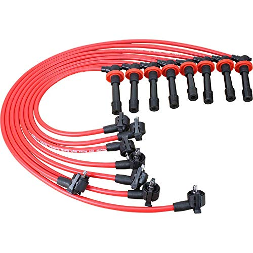 Brand New Dragon Fire 10.2mm Spark Plug Wire Set For 1996-1998 Ford Mustang GT 4.6L 2V OEM Fit PWJ141 (Spark Plugs And Wires)