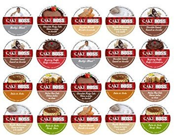 20-count  for Keurig Brewers Coffee Variety Pack Featuring Cake Boss® Coffee Sampler Cups Including Hazelnut Biscotti, Raspberry Truffle, Italian Rum Cake, Vanilla Buttercream (Sampler Biscotti)