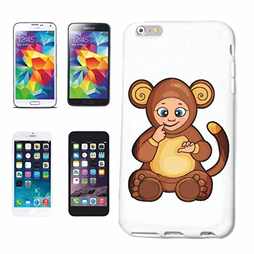 "cas de téléphone iPhone 7+ Plus ""MONKEY FUNNY EN COSTUME BEAR MONKEY MONKEY GORILLA CHIMP SILVER RETOUR APE CHARLY MONKEY KING KONG"" Hard Case Cover Téléphone Covers Smart Cover pour Apple iPhone en b"