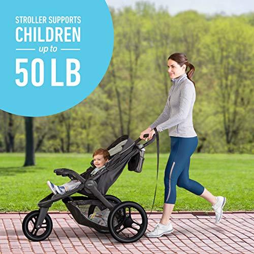 51ZvVWRizUL - Graco FitFold Jogging Stroller, Rowan