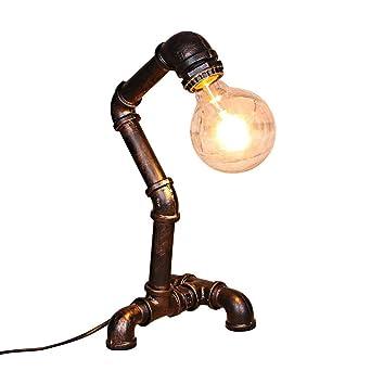 Lámpara de mesa industrial de la vendimia, Arte Hierro retro ...
