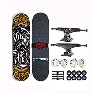 XUEYING-KickScooter Skateboard Professional Adult Beginner Boys and Girls Double Warped Youth Skateboard (Color : C): Home & Kitchen