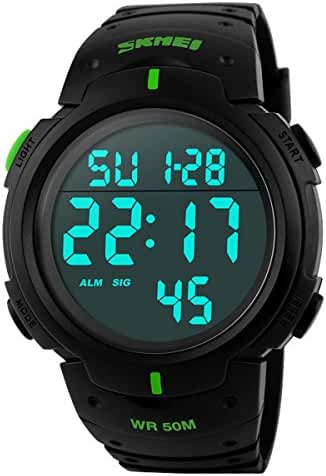 Classical Men's Fashion Water-resistance Watches Casual Diving Watch Students Watches Boys Girls Outdoor Sports Watches Christmas Gift Watch (Green)