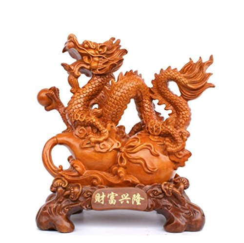 GL&G Extra large Lucky Dragon Decoration living room Home decoration the company office Tabletop Scenes Ornaments Collectible Figurines High-end Business gift,B,341735cm by GAOLIGUO