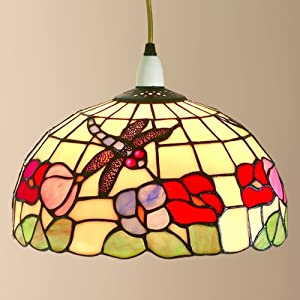 Loxton Lighting - Ceiling Lamp Shade - Dragonfly, Tiffany Style ...