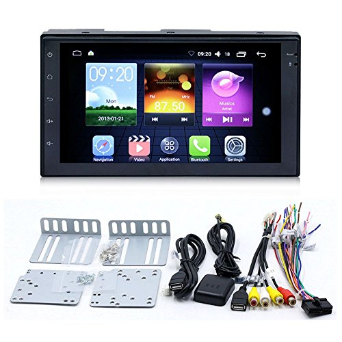 TOOGOO Android Car Radio mp4 mp5 Player Bluetooth wi-fi Navigation GPS 1G 16G Touch Screen 4 core 7 inch 2 DIN Stereo Audio (4 led Camera) by TOOGOO (Image #1)