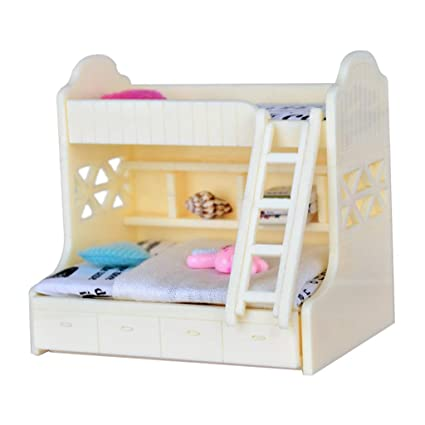 Amazon Com Fenteer 1 12 Dollhouse Miniature Children Bedroom