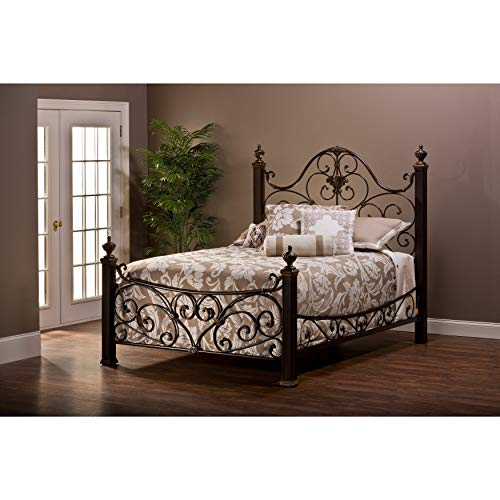Hillsdale Mikelson Aged Antique Gold Bed Set Queen