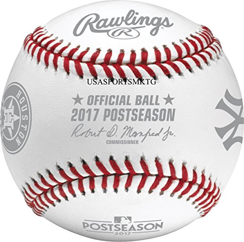 2017 Rawlings ALCS Dueling Teams Official MLB Postseason Baseball Boxed New York Yankees vs Houston (Mlb Post)