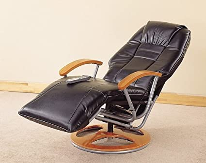 Marvelous 50S Retro Style Black Leather Designer Massage Recliner Chair W Control Onthecornerstone Fun Painted Chair Ideas Images Onthecornerstoneorg