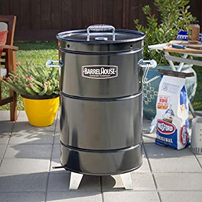 Barrel House Cooker 18C Wood & Charcoal Smoker with Hang-it & Forget-it Simplicity, Modular Versatility - Smoke, Grill, Sear, Bake, BBQ by Barrel House