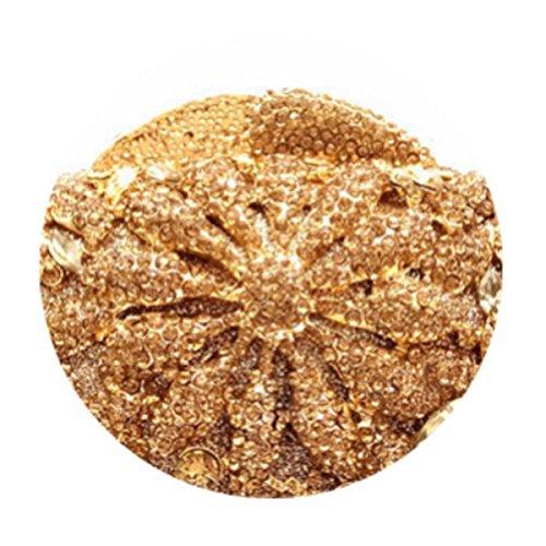 El Bolso De Las Mujeres De Tarde Del Diamante Del Bolso De La Novia Gold