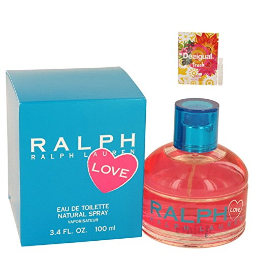Ralph Lauren Love Perfume By Ralph Lauren Eau De Toilette Spray For Women 3.4 oz. 100 ml. + Free! Sample Perfume Desigual Fresh 0.05 oz Vial ()