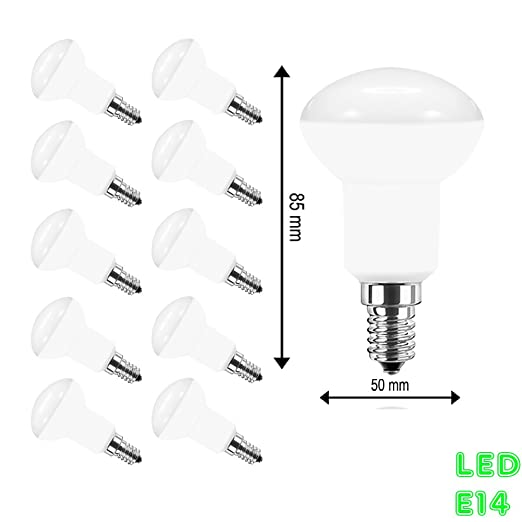 10 LED E14 Reflector Bombilla reflectora R50, equivalente a 40 W bombillas incandescentes, incluida