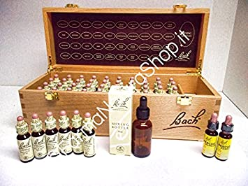 Bach Flower Remedies Set, wooden, 40 x 10 ml, Set Flores de Bach en caja de madera: Amazon.es: Salud y cuidado personal