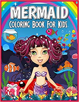 Jf Electric Christmas Gift 2020 Mermaid Coloring Book for Kids: Magical Mermaid Coloring Book for