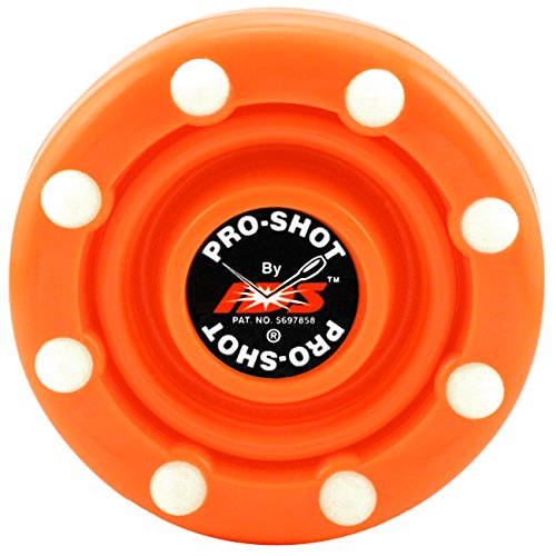 IDS Pro-Shot Puck – Official Roller Hockey Puck Of AAU USA & USA Roller Sports (Flame Orange)