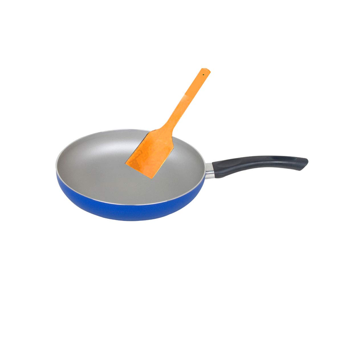 Shengshihuizhong 10-Inch Nonstick Induction Compatible Frying Pan, Skillet, Saute Pan,Less Fumes,Dishwasher Safe Oven Safe The latest style, simple (Color : Blue, Size : 10-Inch)