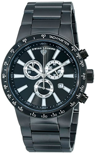 Swiss Legend Men's 10057-BB-11 Endurance Collection Chronograph Stainless Steel Watch (Swiss Chronograph Mens Legend)