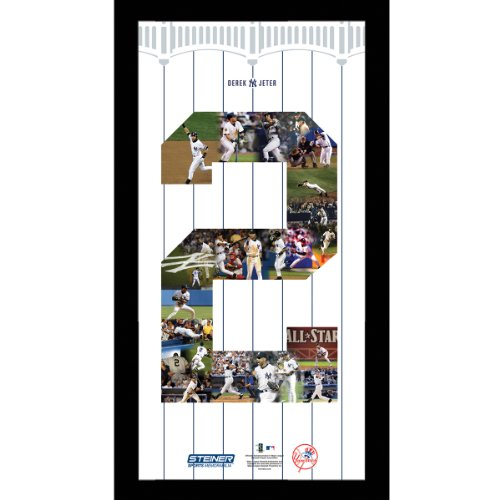 Derek Jeter Yankees #2 career moments framed photo collage 10x20 great gift