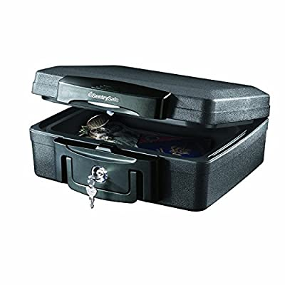 SentrySafe Fire Safe, Waterproof Fire Resistant Chest, .17 Cubic Feet, Extra Small, H0100CG