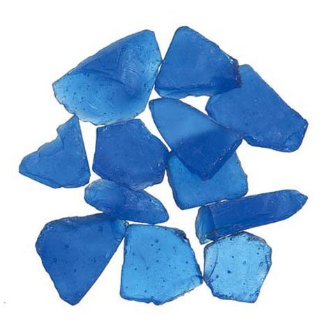 Darice Bulk Buy DIY Sea Glass inch Mesh Bag Frosted Dark Blue 1 lb (3-Pack) -