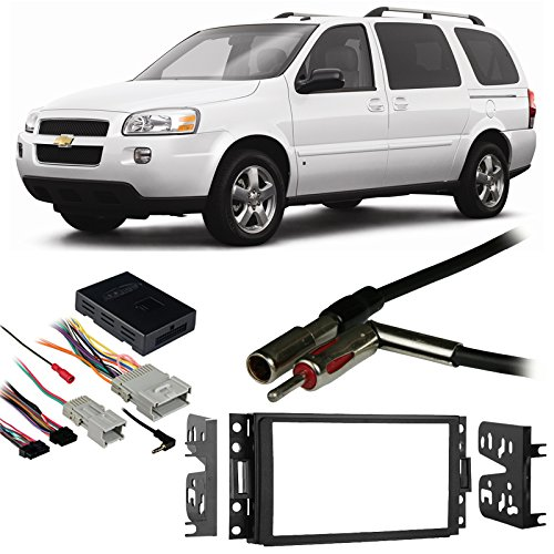 Fits Chevy Uplander 2005-2008 Double DIN Harness Radio Install Dash Kit