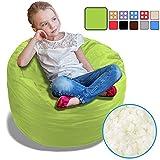 BeanBob Bean Bag Chair for Kids - Foam Filled Bean Bag - Bedroom Furniture & Sofa for Children, 2.5' Green