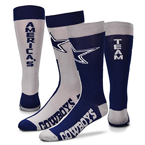- For Bare Feet Dallas Cowboys Big Top MisMatch Crew Socks Size Large 10-13