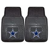 FANMATS NFL Dallas Cowboys Vinyl Heavy Duty Car Mat,Set of two.
