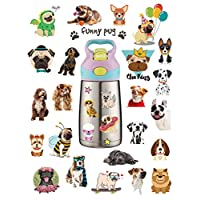 HaokHome S-005 86pcs Cute Cartoon Dog Stickers for Laptop Kids Toys Kindergarten Classroom Computer Notebook Car Skateboard Motorcycle Bicycle Luggage Guitar Bike Stickers for Water Bottles
