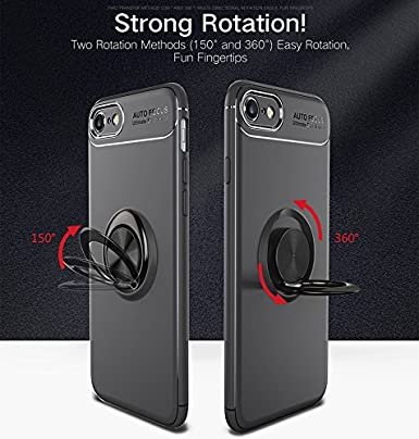 ANERNAI iPhone 6P 6s Plus 360Degree Rotating Ring Shockproof Compatible Magnetic Car Mount Cover for iPhone 6Plus 6sPlus