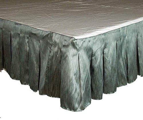 "Ds Gray Striya Striped Faux Silk Inverted Pleats Bed Skirt/ Dust Ruffles 18"" Drop (King)"