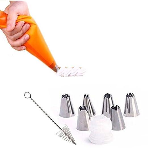 95 opinioni per EQLEF® Icing Piping silicone Crema tasca da pasticcere e 6 x acciaio inox ugello