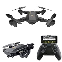 POWPRO Cair PP- XS809 WIFI FPV 6-Axis Foldable Quadcopter Drone Altitude Hold Settable Flight Trajectory 2MP RC Drone