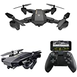 HittecH Foldable RC Drone Flight Path FPV VR Wifi RC Quadcopter 2.4GHz 6-Axis Gyro Remote Control Drone with 720P HD 2MP Camera