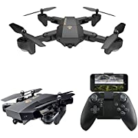 Drone Foldable Flight FPV Wifi Quadcopter,2.4GHz 6-Axis Gyro Remote Drone,with HD Camera for Beginners Kids Training Quadcopter (No HD Camera)