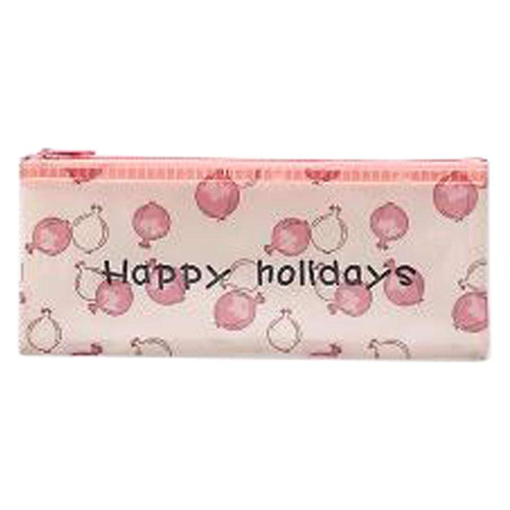 3pcs Cute File Bag Stationery Bag Pouch File Envelope for Office-School Supplies, Pomegranate B6-3pcs Cute File Bag Stationery Bag Pouch File Envelope for Office-School Supplies, Pomegranate B6