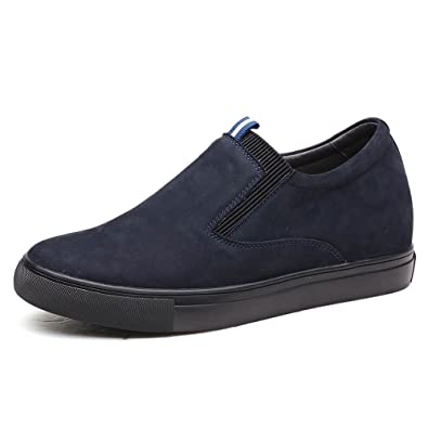 0f973a299adc21 CHAMARIPA Casual Hidden Platform Shoes Slip-on Height Increasing Shoes to  Look Taller 6 cm