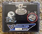 2000 Tennessee Titans 1st Season Commemorative Pin Set - 3 Pins Factory-Sealed