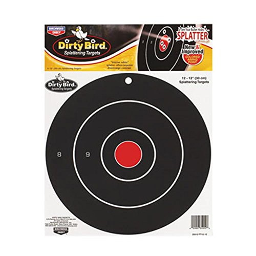 Birchwood Casey Dirty Bird Target 12-Inch Bull's Eye (12Pack)