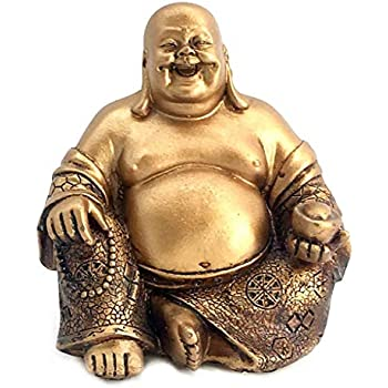 Bellaa 21770 A Golden Happy Buddha(Laughing Buddha) Feng Shui for Money and Wealths 6