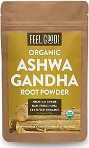 Organic Ashwagandha Root Powder - 4oz Resealable Bag - 100% Raw From India - by Feel Good Organics