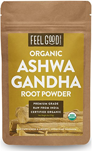 Organic Ashwagandha Root Powder - 4oz Resealable Bag - 100% Raw From India - by Feel Good Organics (Amazon Pantry Yogurt)