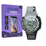 MIKVON 2X AntiSun Screen Protector for Suunto Vector - Retail Package with Accessories