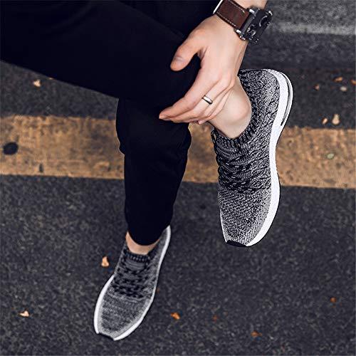 Weaving da Sneaker Scarpe Uomo Traspirante Antiscivolo da Casual Nero Sportive Fashion Training Corsa Ammortizzazione LIEBE721 Flying Outdoor Scarpe d8aAqYqw
